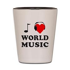 WORLD MUSIC Shot Glass