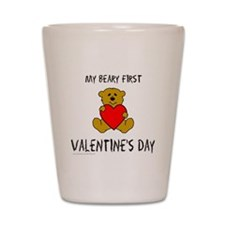 Cute Baby valentines day Shot Glass
