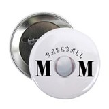 "Baseball Mom (swirls) 2.25"" Button"