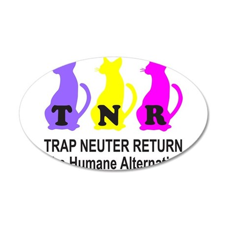 TRAP NEUTER RETURN 22x14 Oval Wall Peel