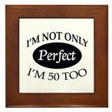 Funny 50th birthday Framed Tile