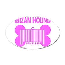 IBIZAN HOUND PRICELESS 22x14 Oval Wall Peel