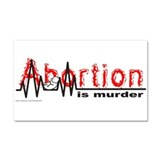 ABORTION IS MURDER Car Magnet 20 x 12