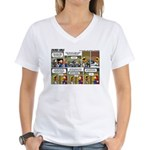 2L0057 - Engine and glider Women's V-Neck T-Shirt