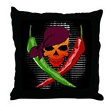 Pepper Pirate Throw Pillow