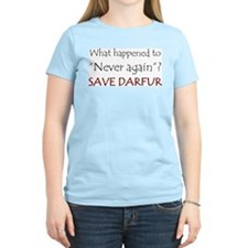 Save Darfur Women's Pink T-Shirt