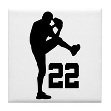 Baseball Uniform Number 22 Tile Coaster