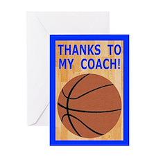 Basketball Coach Thank You Greeting Card