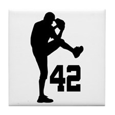 Baseball Uniform Number 42 Tile Coaster