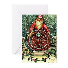 Santa 2 Vintage Christmas Greeting Cards (Pk of 20