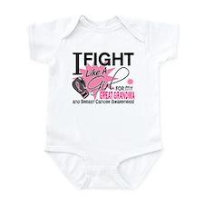 Fight Like A Girl Breast Cancer Infant Bodysuit