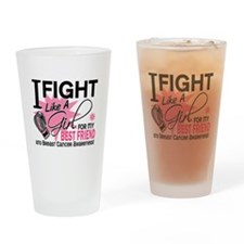 Fight Like A Girl Breast Cancer Drinking Glass