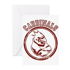 Cardinals team Mascot Gaphic Greeting Cards (Pk of