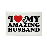 I Love My Amazing Husband Rectangle Magnet