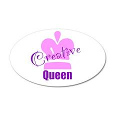 Creative Queen 38.5 x 24.5 Oval Wall Peel