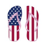 American Flag Flip Flops