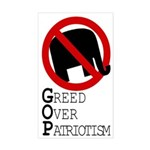 GOP Greed Over Patriotism Bumper Sticker