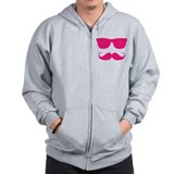 cool moustache Zipped Hoody