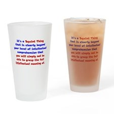 Intellectual Comprehension Drinking Glass