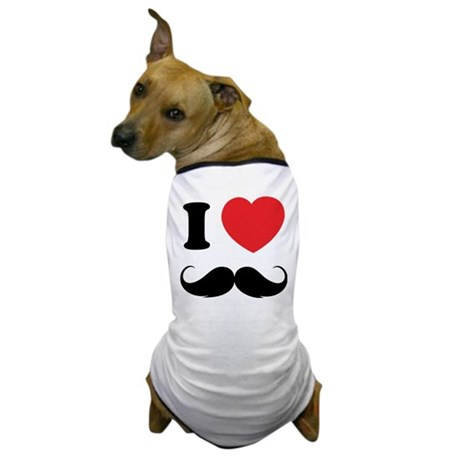 I love moustache Dog T-Shirt
