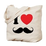 I love moustache Tote Bag