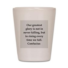 confucius wisdom Shot Glass