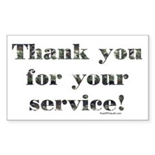 Thank You Armed Forces CAMO Rectangle Sticker