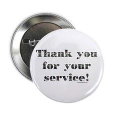 Thank You Armed Forces CAMO Button
