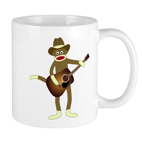 Sock Monkey Country Music Coffee Mug