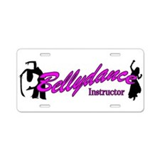 Instructor Pink Aluminum License Plate