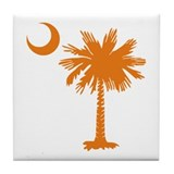 SC Palmetto & Crescent (O) Tile Coaster