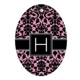 Monogram Letter H Gifts Ornament (Oval)