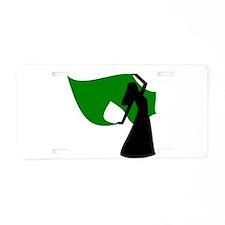Green Veil Dancer Aluminum License Plate