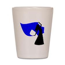 Blue Veil Dancer Shot Glass