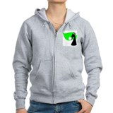 Lime Green Veil Dancer Zip Hoodie
