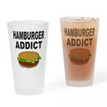 HAMBURGER ADDICT Drinking Glass