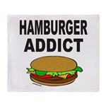 HAMBURGER ADDICT Throw Blanket