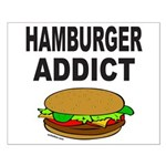 HAMBURGER ADDICT Small Poster