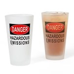 DANGER Drinking Glass