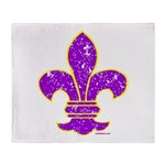 FLEUR DE LI Throw Blanket