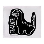 RAWR DINO Throw Blanket