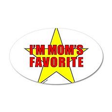 I'M MOM'S FAVORITE 38.5 x 24.5 Oval Wall Peel