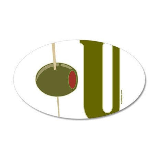 OLIVE U (I LOVE YOU) 22x14 Oval Wall Peel