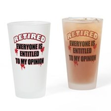 Funny retired Drinking Glass