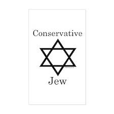Conservative Jew Rectangle Sticker