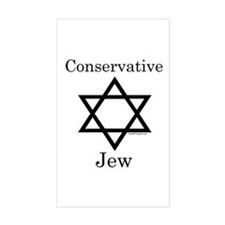 Conservative Jew Rectangle Decal