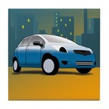 Cute Voiture Tile Coaster