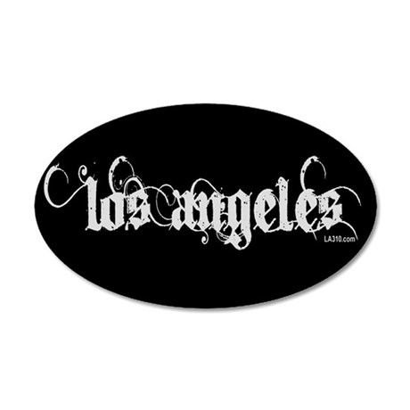 Los Angeles 22x14 Oval Wall Peel