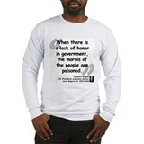 Hoover Morals Quote Long Sleeve T-Shirt