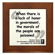 Hoover Morals Quote Framed Tile